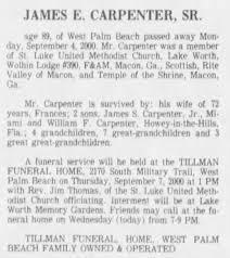 "James Ellis ""Bunk"" Carpenter, I (1911-2000) - Find A Grave Memorial"
