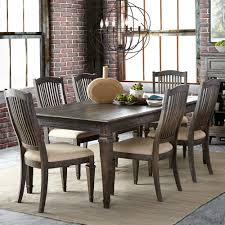 sutton place wood rectangular dining table in weathered charcoal w leaf