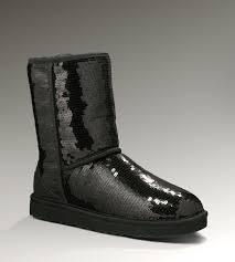 UGG Classic Short Sparkles 3161 Black Boots