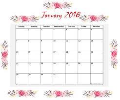 blank 2018 calendar january 2018 floral calendar calendar 2018