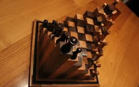 Homemade Wooden Board Games DIY 100D chess board by Andy Philip is a different take on the game 34