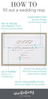 fill out a wedding rsvp invitations by dawn When To Send Out Wedding Invitations And Rsvp how to fill out an rsvp when to send wedding invitations and rsvp