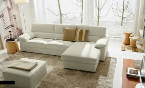 beautiful narrow living room furniture layout ideas white leather sectional sofa ottoman beige further rug