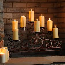 electric fireplace candles scrolled copper fireplace candelabra electric candle fireplace insert