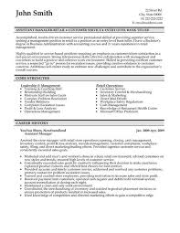 Assistant Manager Resume Format Sample Resume Letters Job Application