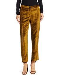 Rag Bone Jeans Rag Bone Poppy Velvet Tapered Pants Olive