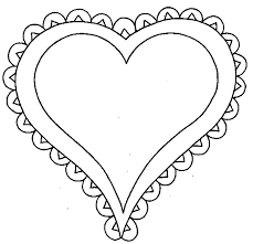 Small Picture Awesome Design Hearts Coloring Pages Easy To Color Valentines Day