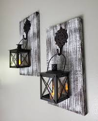 candle sconces wall decorations wood