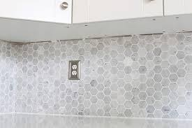 Install Wall Tile Backsplash Awesome How To Install A Marble Hexagon Tile Backsplash Just A Girl And