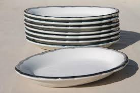 dinner plates nz surf. mod vintage black grey white china oval dinner plates surf turf pla nz