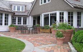 brick patio paver designs with concrete border cost simple paver patio designs using pavers