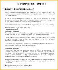 Winning Marketing Plan Executive Summary Sample Proposal Template