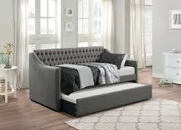 upholstered daybed with trundle. Beautiful Trundle Homelegance Tulney Dark Gray Button Tufted Upholstered Daybed With Trundle  Available Online In Dallas Fort Worth Inside With T