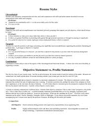 Form Of Resume Sample Good Profile Statement For Resume Forms Of
