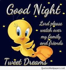 funny cartoon good night tweety picture e