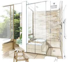 bathroom interior design sketches.  Interior Sketch Perspective Interior Bathroom  Inside Design Sketches