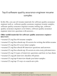 Top 8 software quality assurance engineer resume samples In this file, you  can ref resume ...