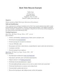 Resume Template For Bank Teller Bank Teller Resume With No