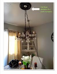 vintage swag chandelier update