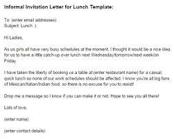 Lunch Invitation Email Under Fontanacountryinn Com
