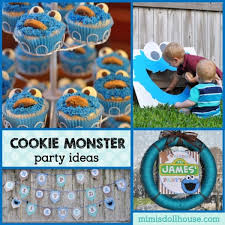 Lets Throw A Cookie Monster Birthday Mimis Dollhouse