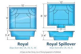 Royal Spa Hot Tub Viking Fiberglass Swimming Pools