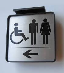 bathroom sign. Contemporary Sign Ceiling Mount Directional Signs  Show The Way In Bathroom Sign G