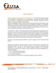 General Maintenance Resume Stunning Resume Eamsa Sa De Cv By ERIKA R Issuu