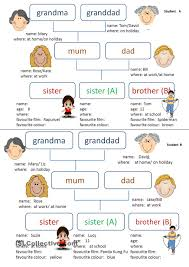 my family esl worksheets of the day english esl my family