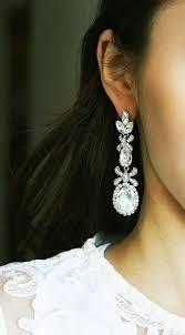 big chandelier earrings new crystal bridal chandelier cz earrings