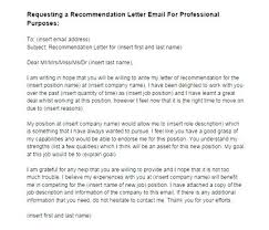 Requesting For Recommendation Letter Sample Email Template Requesting Recommendation Letter 9 Sample Request