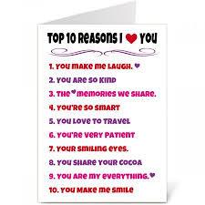 Top Ten List Valentine Create A Card