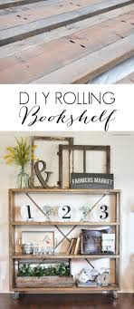 build this rolling diy bookshelf with easy plans provided by ana white then get the