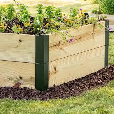 raised garden bed corners from gardens