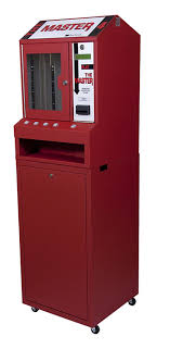 Lottery Vending Machines For Sale New Red Master 48 Column Lottery Pull Tab Vending Machine EBay