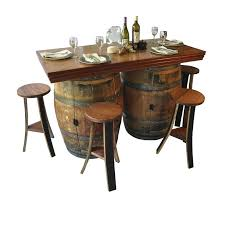 wine barrel furniture wine barrel 5 piece dining set wine barrel furniture washington wine barrel furniture