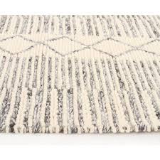 chunky braided caena braided grey wool floor area rug side image