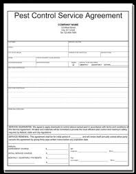 Free Pest Control Service Agreement Template Pest Control Proposal ...
