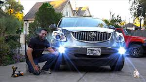 Buick Enclave Running Lights Not Working Upgrade Buick Fog Lights To Led Lights Buick Enclave Led Upgrade