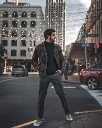 quentin g decamp conroy leather biker jacket