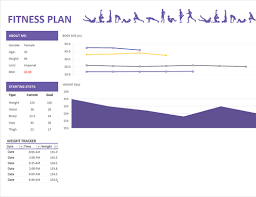 Fitness Progress Chart Template For Excel Health And Fitness Office Com