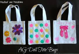 decorated ag doll tote bags american girl furniture ideas