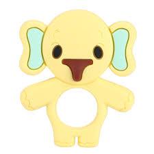 Set 2 đồ chơi gặm silicon hình chú voi dễ thương cho trẻ sơ sinh, Giá tháng  1/2021