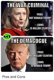 The WARNCRIMINAL PROS NOT DONALD TRUMP CONS IS HILLARY CLINTON THE Cool Hillary Ruck Marriage