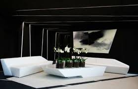 Schwarz Weiß Einrichtung Rot Office Elegant Sofa Tisch Blumen