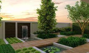 modern backyard landscaping