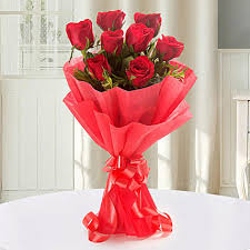 enigmatic red roses bouquet gifts to coimbatore