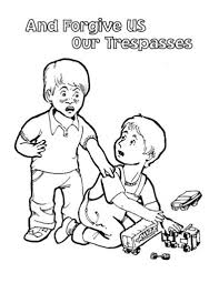 Best Photos Of Forgiveness Bible Coloring Pages Lords Prayer