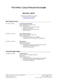 Create Resume For Job 288466 Part Time Job Resume Examples