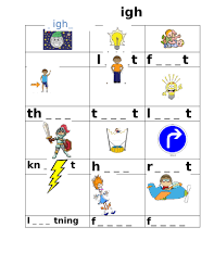 During phase 3, children will also learn the letter names using an alphabet song, although they will continue to use the sounds when decoding words. Phase 3 Igh Sounds Worksheet Teaching Resources